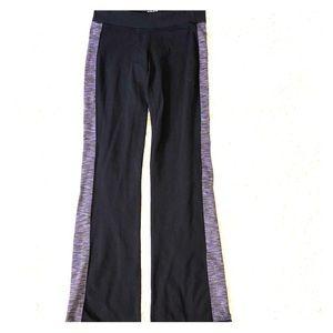 Athleta Size MT Yoga Pants Stripe Colorblock Pants
